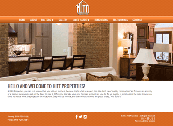 web design for Hitt Properties