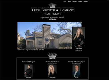 web design for Trina Griffith & Company Real Estate