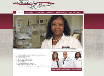web design for Texarkana Obstetrics & Gynecology
