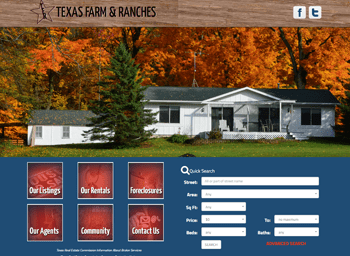 web design for Texas Farms and Ranches