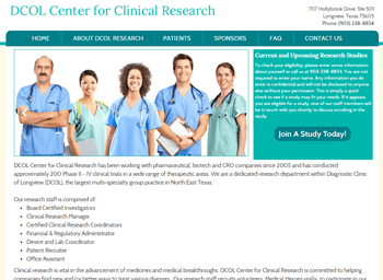 web design for DCOL Research