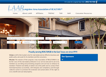 web design for Longview Area Association of REALTORS®