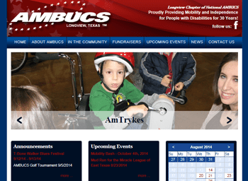 web design for Longview AMBUCS
