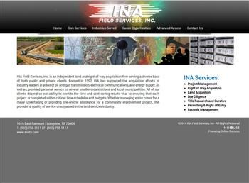 web design for INA Field Services