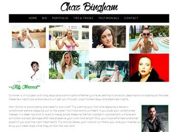 web design for Chaz Bingham