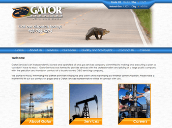 web design for Gator Services LLC