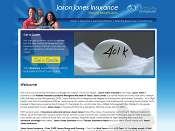 web design for Jason Jones Insurance