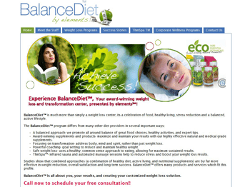 web design for Balanced Diet