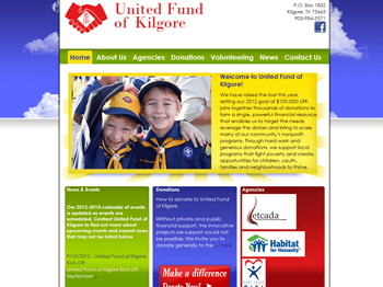web design for United Fund of Kilgore