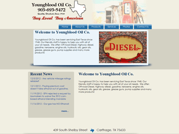 web design for Youngblood Oil