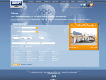 web design for Coldwell Banker Lenhart Properties