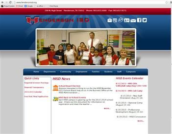 web design for Henderson ISD
