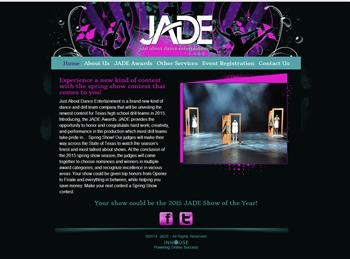 web design for Just About Dance Entertainment