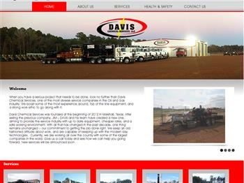 web design for Davis Chemical Services