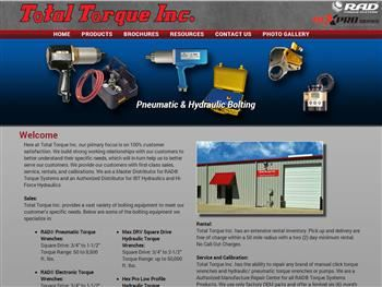 web design for Total Torque Inc.