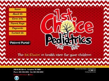 web design for 1st Choice Pediatrics