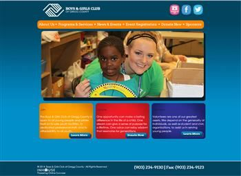 web design for Boys & Girls Club of Gregg County