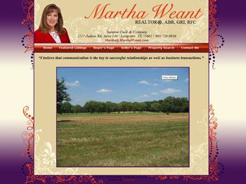 web design for Martha Weant