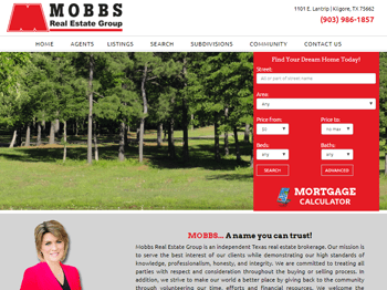 web design for Mobbs Real Estate Group