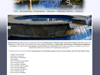 web design for American Pool Services