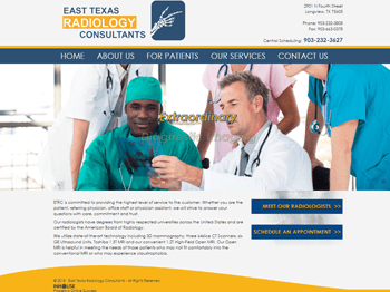 web design for East Texas Radiology Consultants