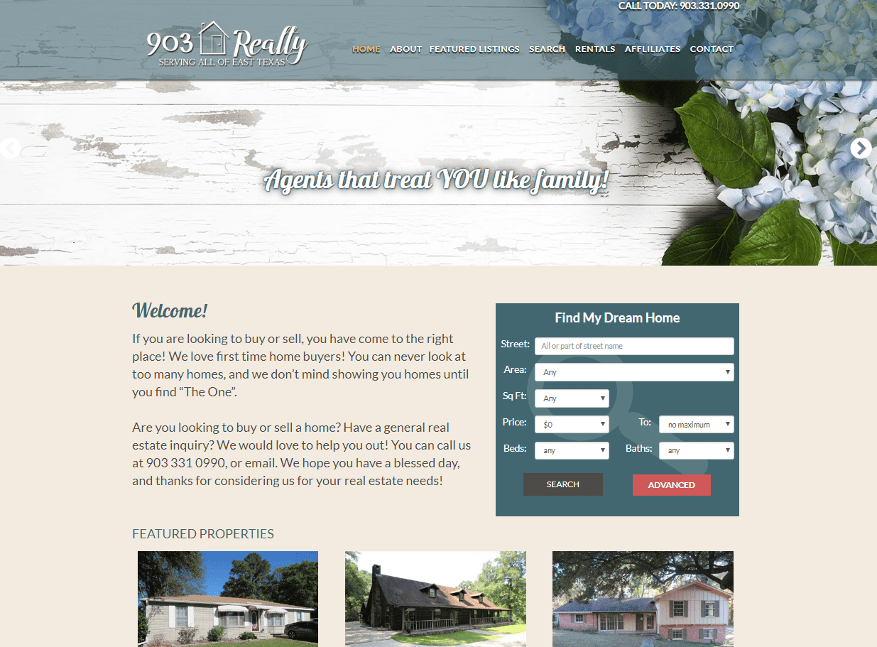 web design for 903 Realty