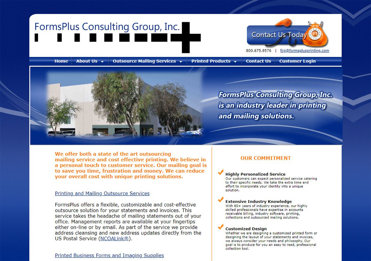 web design for FormsPlus Consulting Group, Inc.