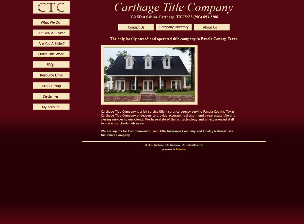 web design for Carthage Title Company