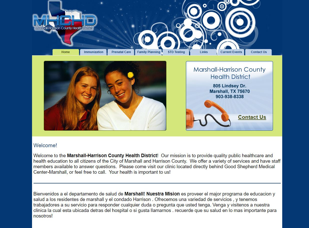 web design for Marshall-Harrison County Health District