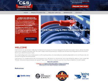 web design for C & S Commco, Inc.