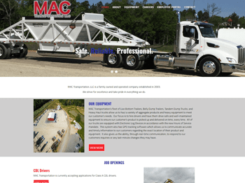 web design for MAC Transportation LLC
