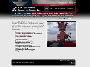 web design for East Texas Oilfield Production Services, Inc.