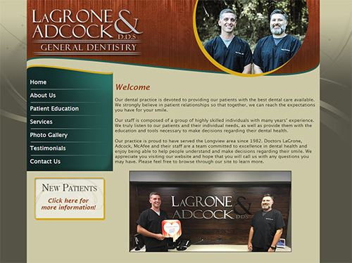 web design for LaGrone & Adcock D.D.S.