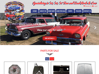 web design for Classic Chevy Connection