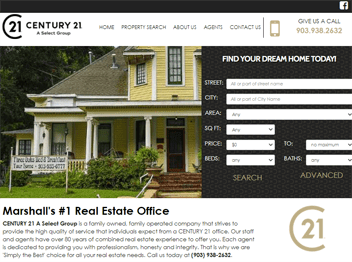 web design for Century-21, A Select Group