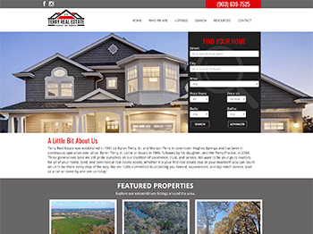 web design for Terry Real Estate