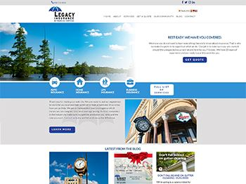web design for Legacy Insurance & Financial Services